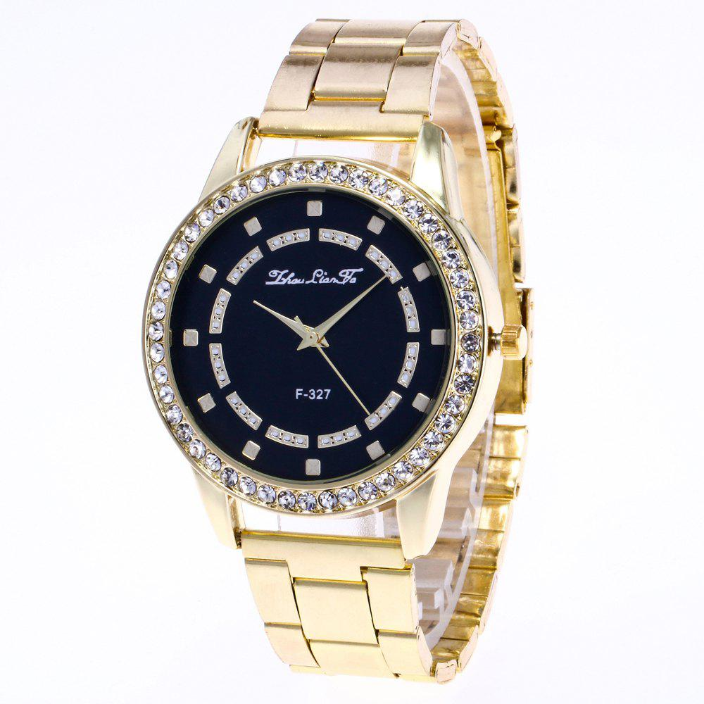 ZhouLianFa New Sports Luxury Trend of Gold Band Diamond Quartz Watch - GOLDEN