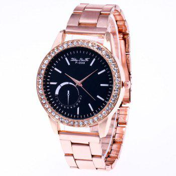 ZhouLianFa New Sports Luxury Trend of Rose Gold Steel Belt Diamond Quartz Watch - ROSE GOLD ROSE GOLD