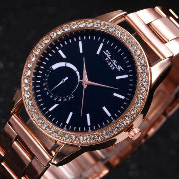 ZhouLianFa New Sports Luxury Trend of Rose Gold Steel Belt Diamond Quartz Watch -  ROSE GOLD