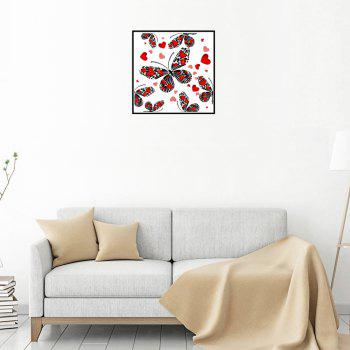 Naiyue 7121 Butterfly Four Print Draw Diamond Drawing -  RED / BLACK