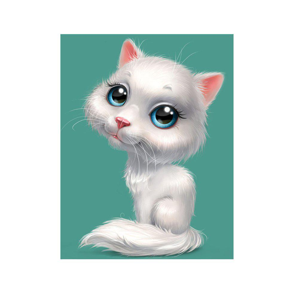 Naiyue 9001 White Cat Print Draw Diamond Drawing - WHITE KITTY