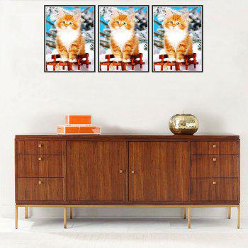 Naiyue 9735 Cats Print Draw Diamond Drawing -  COLORMIX