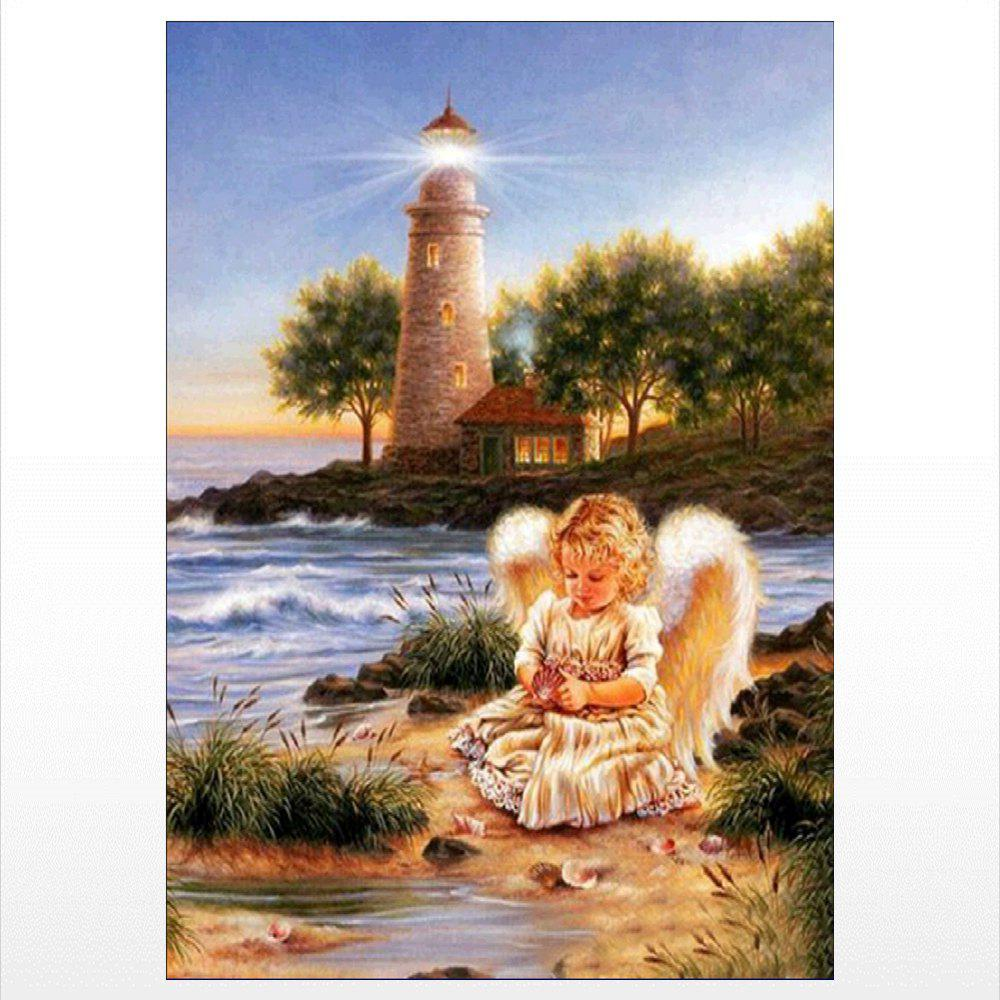 Naiyue J721 Lighthouse Angel Print Draw Diamond Drawing - COLORMIX