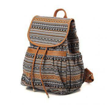 Canvas Backpack for Women & Girls Casual Book Bag Sports Daypack - COLORFUL