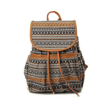 Canvas Backpack for Women & Girls Casual Book Bag Sports Daypack - COLORFUL COLORFUL