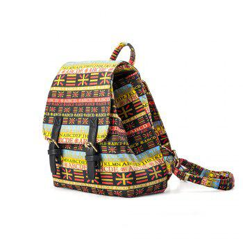 Backpack For Girls Fashion Letter Print Waterproof Backpack - YELLOW