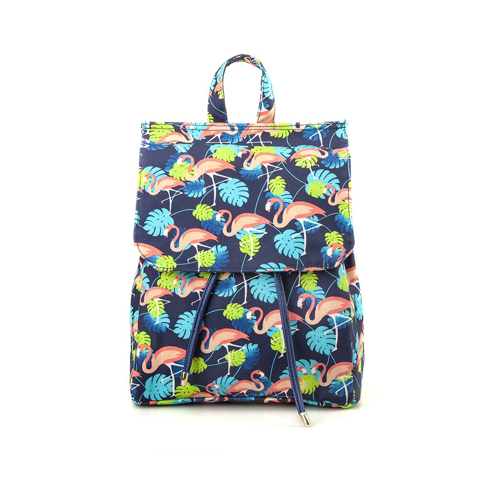 Waterproof Backpack for Women Flamingo School Backpack for Girls - BLUE