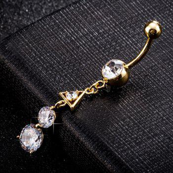 Rounded Anisotropic Zircon Navel Ring P0214