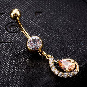 Personality Hollowed Out Water Drop Shaped Zircon