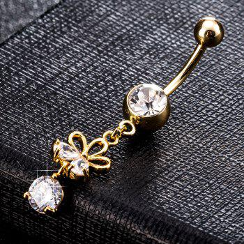 Fashion Hollowed Out Zircon Navel Ring P0223