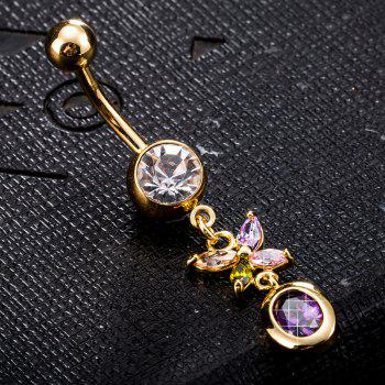 Personality Butterfly Zircon Navel Ring P0224