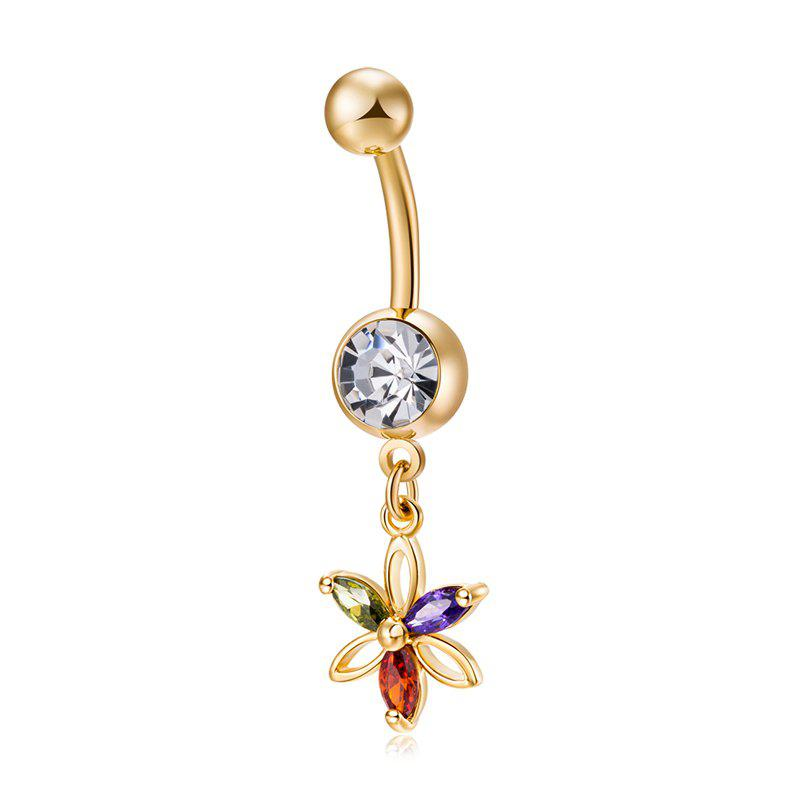 Couleur Pétale Zircon Navel Ring P0233 - coloré