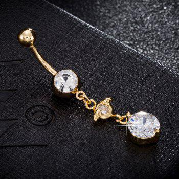 Cute Hat  Zircon Navel Ring P0236 - GOLDEN