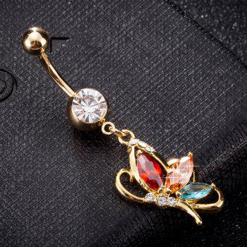 Elegant Butterfly Zircon Navel Ring P0240 - COLORFUL