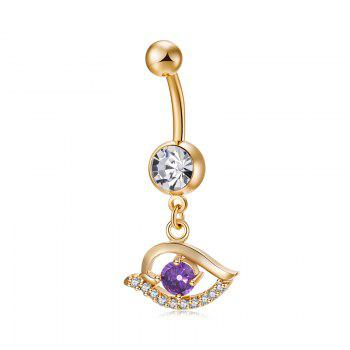 Pierced Eyes  Zircon Navel Ring P0243 - PURPLE PURPLE