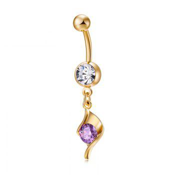 Concise Zircon Navel Ring P0248