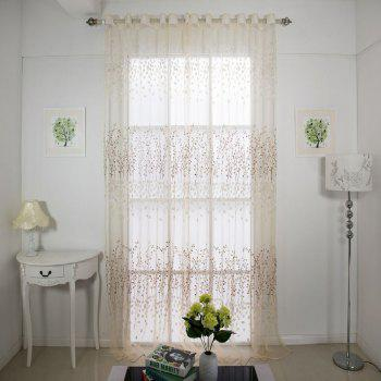 Semi transparent window curtain - WHITE FLAT FRONT