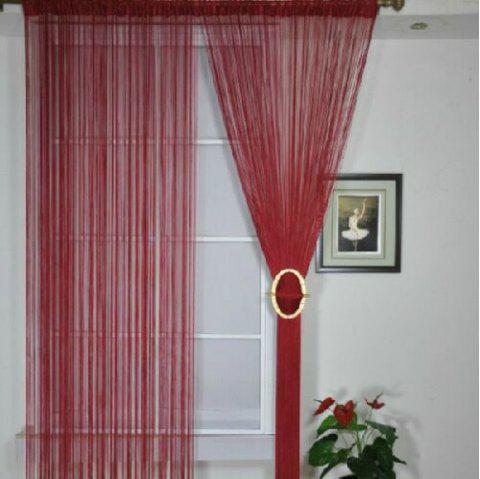 Straight Line Curtain Room European Curtain - DEEP RED FLAT FRONT