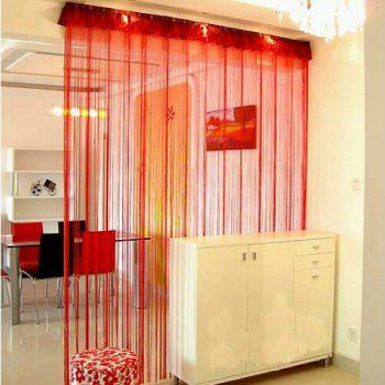 Straight Line Curtain Room European Curtain - RED RED