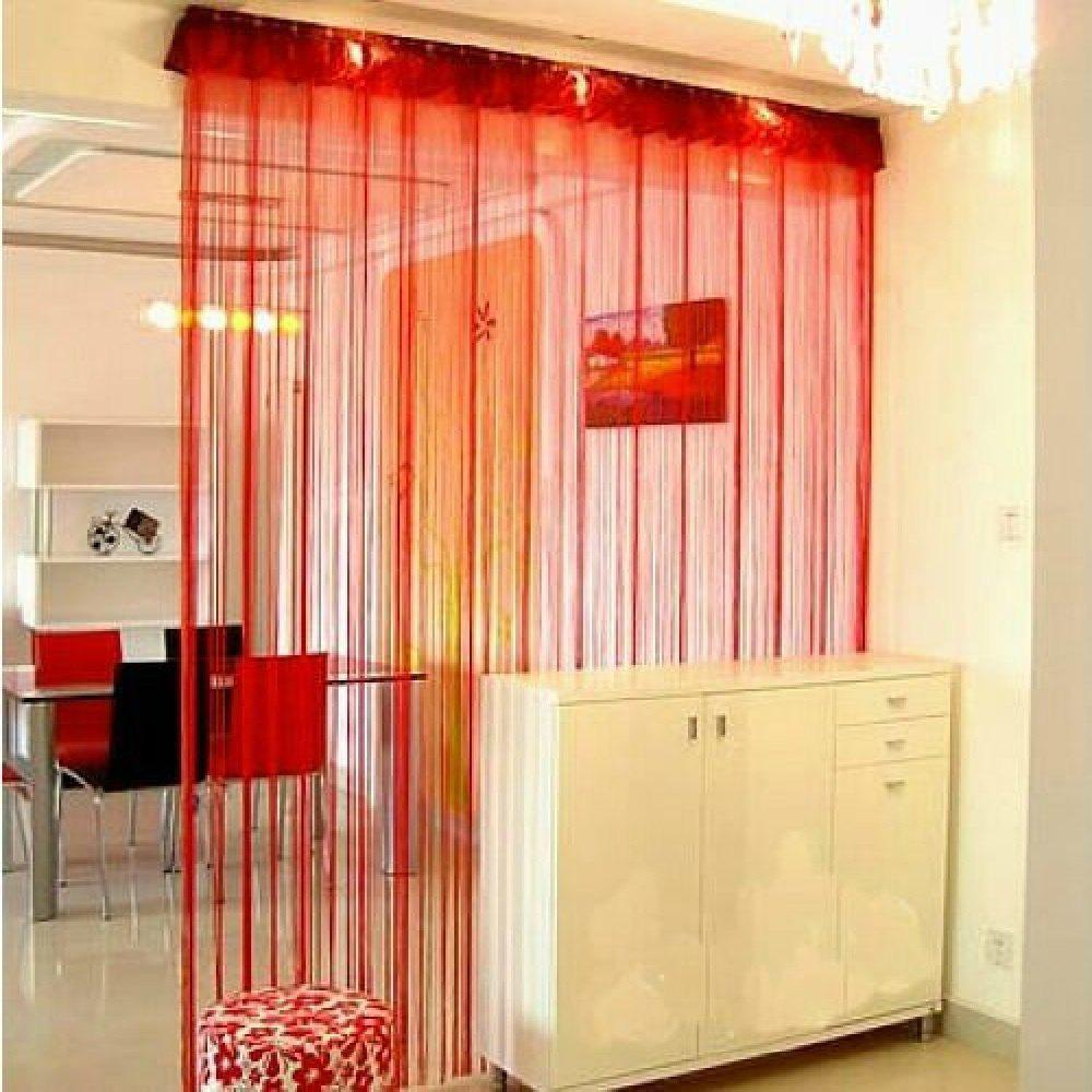 Straight Line Curtain Room European Curtain - RED FLAT FRONT