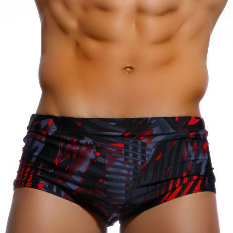 Taddlee Sexy Hommes Maillots De Bain Maillots De Bain Maillots De Bain Bikini Hommes Maillots De Bain Boxer Short Trunks Europe Taille Surf Boardshorts - Rouge 2XL
