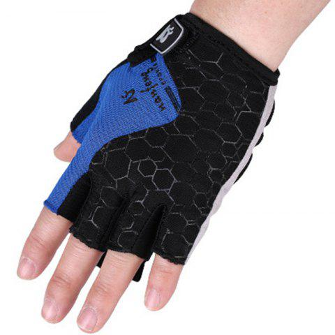2017 New Half-Finger Bike Gloves Outdoor Cycling Gloves - BLUE M