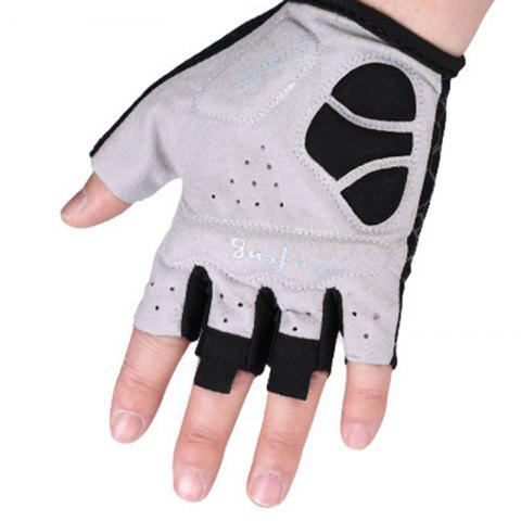 2017 New Half-Finger Bike Gloves Outdoor Cycling Gloves - GRAY S