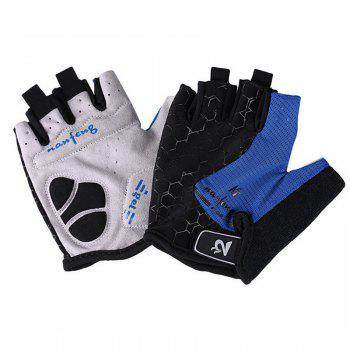 2017 New Half-Finger Bike Gloves Outdoor Cycling Gloves - BLUE L