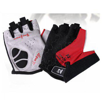 2017 New Half-Finger Bike Gloves Outdoor Cycling Gloves - RED S
