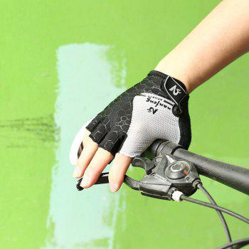 2017 New Half-Finger Bike Gloves Outdoor Cycling Gloves - GRAY L
