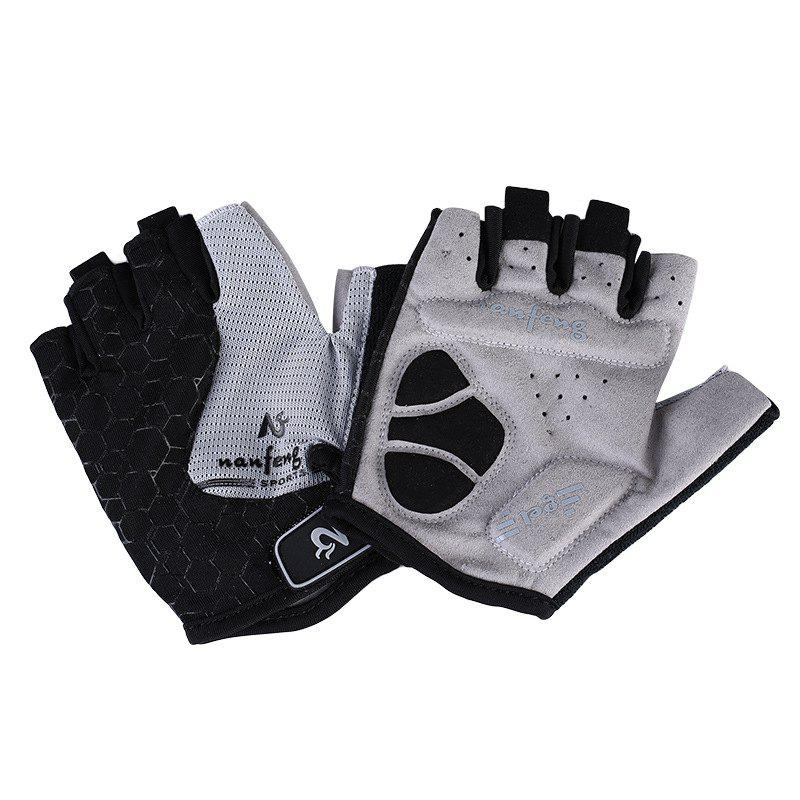 2017 New Half-Finger Bike Gloves Outdoor Cycling Gloves - GRAY M