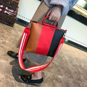 The New Color Band Collision Color Four-Piece Bag with Simple Fashion Single Shoulder Slanting Bags - BROWN ANGEL