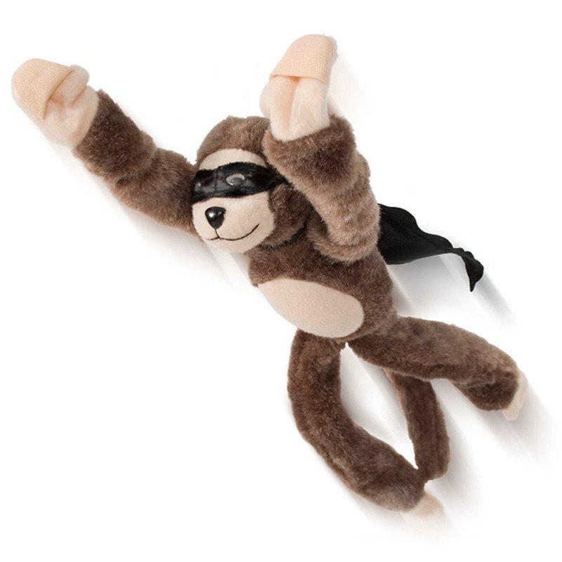 25cm New Funny Paw Toys Lovely Novelty Flying Monkey Screaming Slingshot Plush Toys Kids Gift new electronic wristband patrol dogs kids paw toys patrulla canina toys puppy patrol dogs projection plastic wrist watch toys