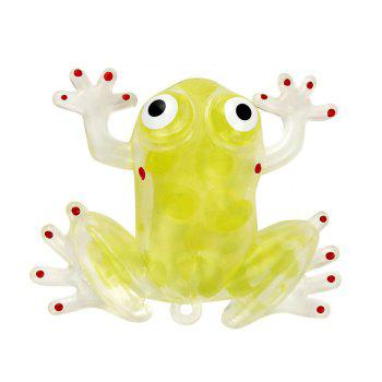 Novelty 6cm Bead Stress Ball Sticky Squeeze Frogs Squeezing Stress Relief Toy 4 Colors - YELLOW