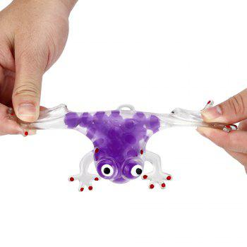 Novelty 6cm Bead Stress Ball Sticky Squeeze Frogs Squeezing Stress Relief Toy 4 Colors - PURPLE