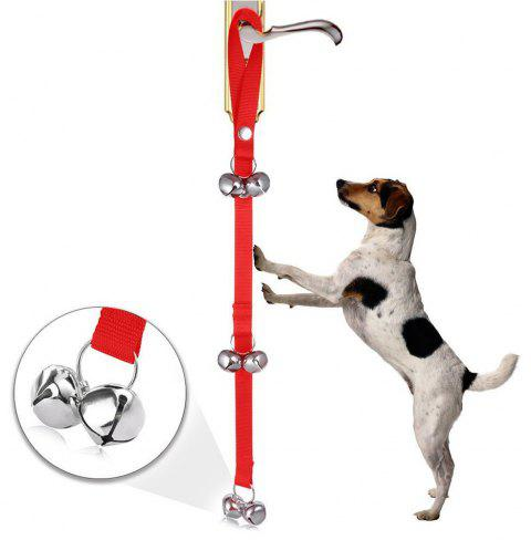 Dog Doorbells Premium Quality Training Potty Dog Bells - RED