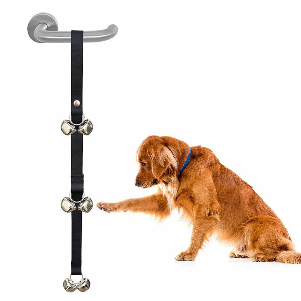 Dog Doorbells Premium Quality Training Potty Dog Bells - BLACK