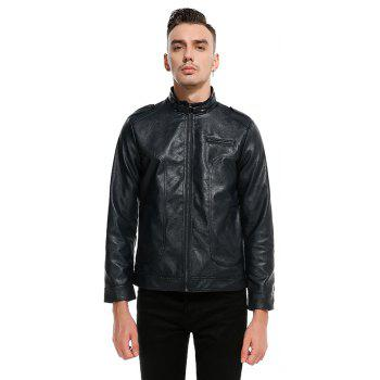 New Spring Fashionable Leather Jacket  PY04 - BLACK L