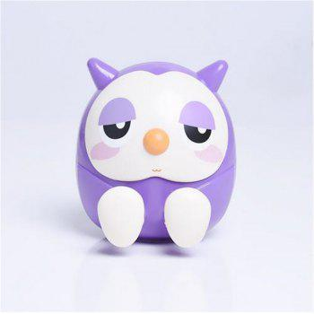 Universal ABS Mobile Phone Holder Cute Owl Cartoon  Stand Tablet Smartphone Support Mini Saving Money Box - PURPLE PURPLE