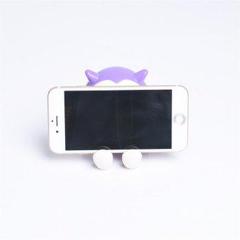 Universal ABS Mobile Phone Holder Cute Owl Cartoon  Stand Tablet Smartphone Support Mini Saving Money Box -  PURPLE