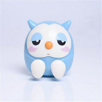 Universal ABS Mobile Phone Holder Cute Owl Cartoon  Stand Tablet Smartphone Support Mini Saving Money Box - BLUE BLUE