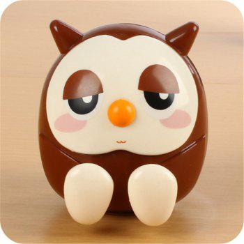 Universal ABS Mobile Phone Holder Cute Owl Cartoon  Stand Tablet Smartphone Support Mini Saving Money Box -  BROWN