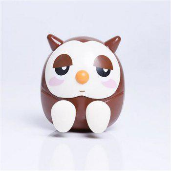 Universal ABS Mobile Phone Holder Cute Owl Cartoon  Stand Tablet Smartphone Support Mini Saving Money Box - BROWN BROWN