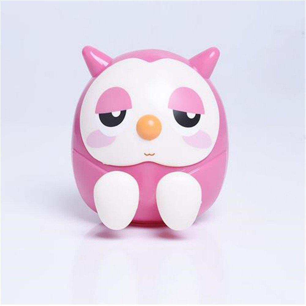 Universal ABS Mobile Phone Holder Cute Owl Cartoon  Stand Tablet Smartphone Support Mini Saving Money Box - PINK