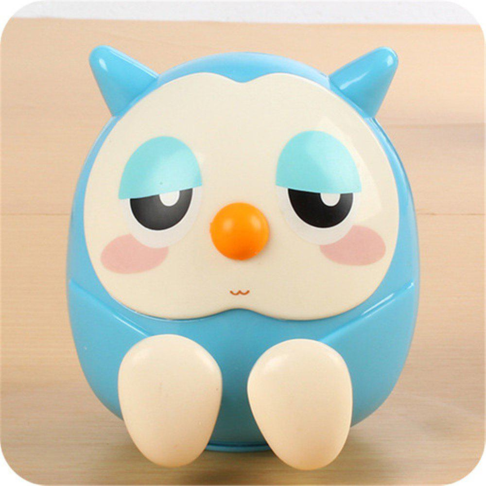 Universal ABS Mobile Phone Holder Cute Owl Cartoon  Stand Tablet Smartphone Support Mini Saving Money Box - BLUE