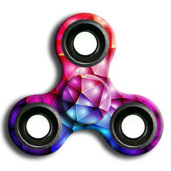 Stress Relief Toy Camouflage Finger Spinner - PINK PINK