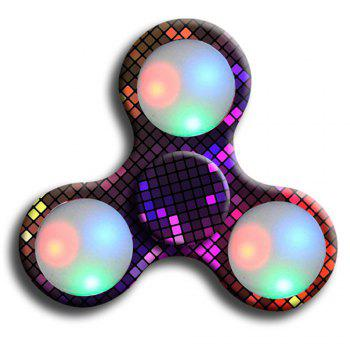 Premium Water Resistant Tri Fidget LED Hand Spinner With On/Off Switch 2 Mode Flashing LED Lights - BLACK AND RED BLACK/RED