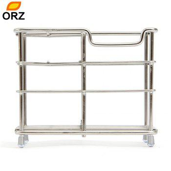 ORZ Stainless Steel Toothbrush Holder Toothpaste Razor Comb Stand Bathroom Organizer - SILVER SILVER