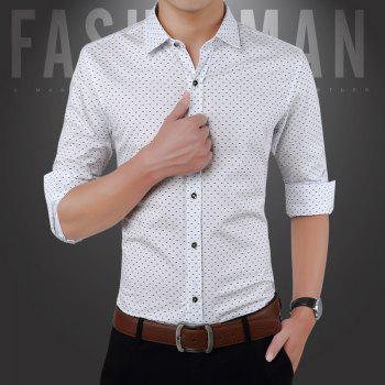 Men'S Casual Printed Shirt - WHITE M