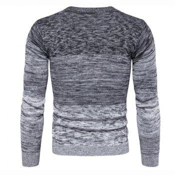 Men's Going out Casual Daily Holiday Simple Regular Pullover Color Block Round Neck Long Sleeves Wool Sweater - GRAY 2XL